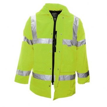 HI-VIS COAT WARM QUILTED LINING LARGE